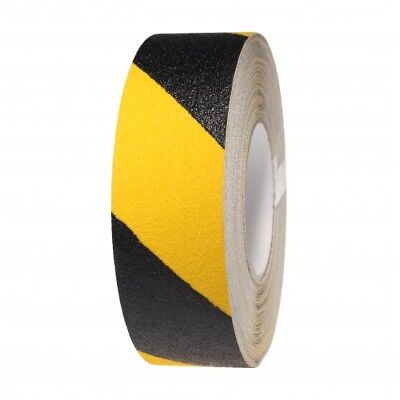 Anti Slip Tape Black and Yellow Non Skid High Grip Adhesive Backed - 50mm Width