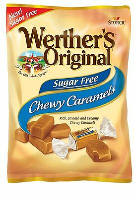 Werther's Original Sugar Free Chewy Caramels, Diabetic, Low Carb