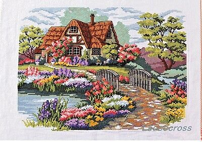 Cross stitch dreaming house finished completed cross stitch on sale gifts