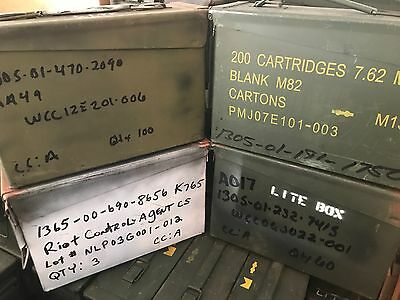 Lot of (4) 30 Caliber 200 Cartridge 7.62MM Ammo Can Empty M19A1 Grade 2 Painted