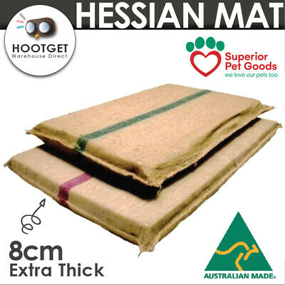 Superior - Extra Thick Pet Dog Puppy Hessian Foam Mat Bed Futon Crate Kennel 8cm