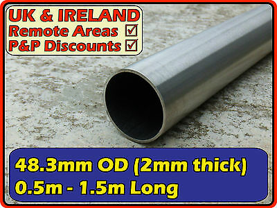 "Stainless Steel Round Tube,Handrail,Pipe| 48.3mm (<2"" <50mm)