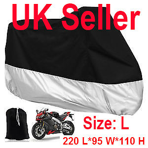 Motorcycle Waterproof Outdoor Vented Motor Bike Scooter Dust Rain Cover Large L