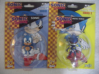 """Sonic the Hedgehog SONIC and METAL SONIC 2 Mini Figure Collectibles F4F 2.5"""""""