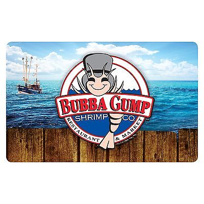 $50 Bubba Gump Shrimp Physical Gift Card - Standard 1st Class Mail Delivery