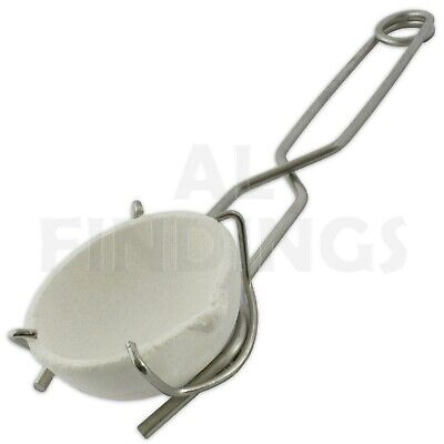 """All Sizes 1"""" 2"""" 3"""" Whip Tongs Tong & Ceramic Melting Dish Jewellery Working Tool"""