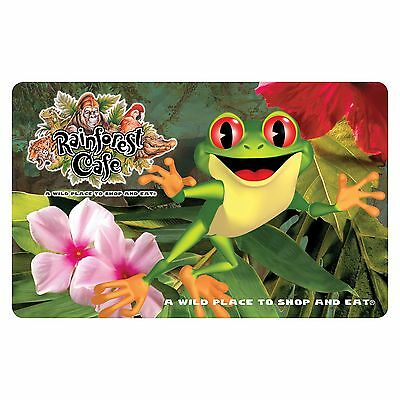 $50 Rainforest Cafe Physical Gift Card - Standard 1st Class Mail Delivery
