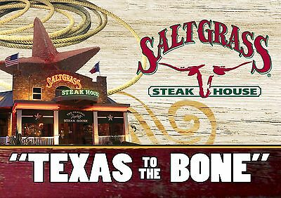 $50 Saltgrass Steakhouse Physical Gift Card - Standard 1st Class Mail Delivery