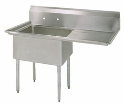 (1) One Compartment Commercial Stainless Steel Prep Pot Sink 38.5 x 29.5 G