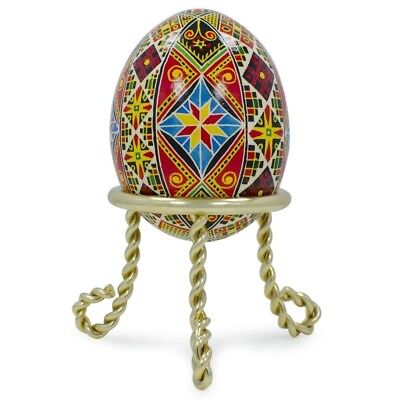 "1.5"" Scrolled Legs Gold Tone Metal Egg Stand Holder Display"
