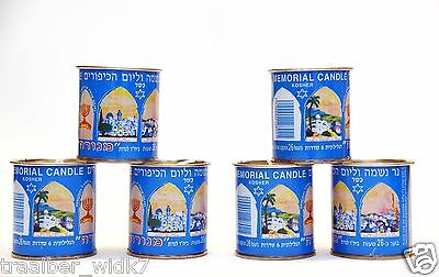 Lot 6 Candle Memorial Kaddish Yizkor Yahrzeit - MENORAH Kosher Badatz 26 Hrs.