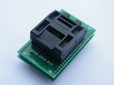 QFP48 TO DIP48 IC Test Socket Programming Adapter for QFP48/TQFP48/FQFP48/PQFP48