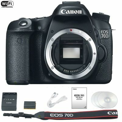 NEW Canon EOS 70D Body Digital SLR Camera Only 20.2 MP 1080p HD