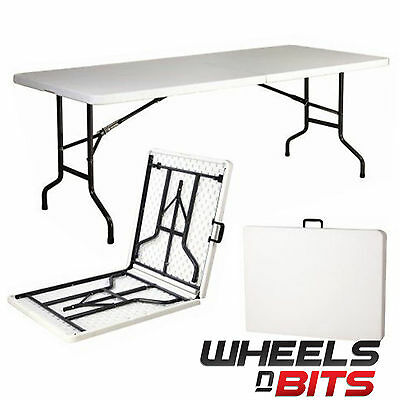 6Ft 1.8M Camping Outdoor 6 Foot Market Catering Banqueting Party Folding Table