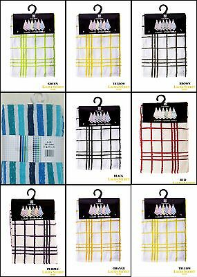 Luxury 100% Cotton Kitchen Tea Towels Dish Drying Cleaning Cloth Pack Of 3