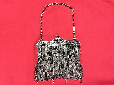Antique Greek Pewter Womens Purse Alpacca Handbag Ladies Greece Grecia Peltro