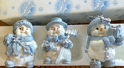 New in Box Snowbuddies Christmas Holiday Ornaments Set of 3 Ornaments
