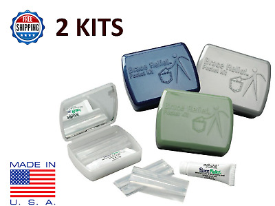 Braces Relief Pocket Kit Silicone & Gel for Irritation Orthodontic Dental Wax