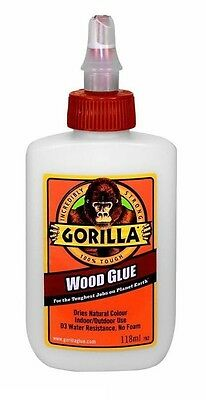 GORILLA WOOD GLUE - Bonds Stronger&Faster - Water-Resistant - No Dyes - 118ml