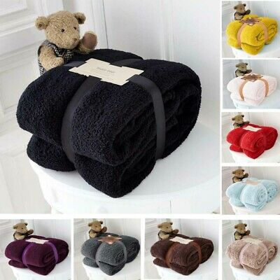Fleece Blanket Throw Double King Size Sofa Bed Large Soft Warm Teddy Bear New
