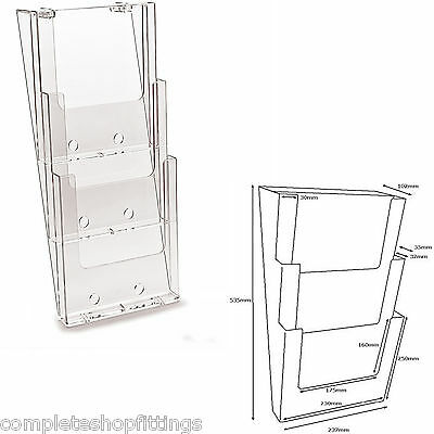 A4 Multi-Tier Wall Mounted Brochure/Leaflet Holder