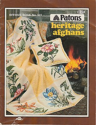Patons Heritage Afghans - 12 designs to knit & crochet copyright 1977