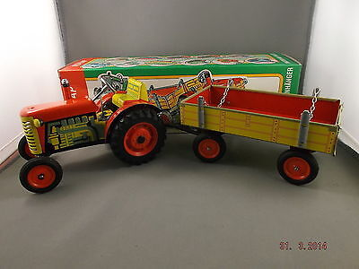 Tin Toy - Tractor with Trailer KOVAP