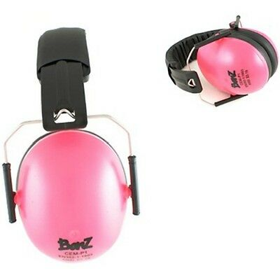NEW Baby Banz Pink Earmuffs Soft Cup baby Ear muffs kids babies Toddler 2 - 10