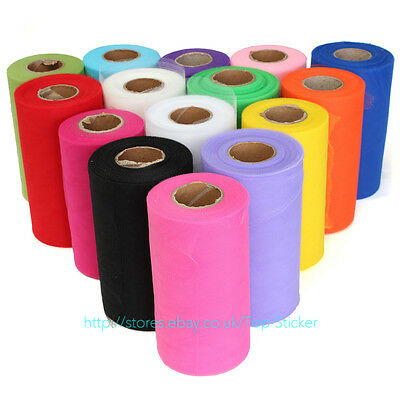 "6"" 100 yards Tutu Tulle Roll Spool Wedding Party Decoration Wrap Craft Bow"