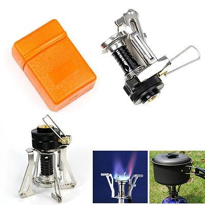 2015 Portable Outdoor Picnic Gas Burner Foldable Camping Mini Steel Stove Case