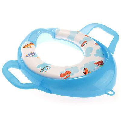 Baby Toddler Safety Potty Training Toilet Seat with Handle Soft Trainer Blue