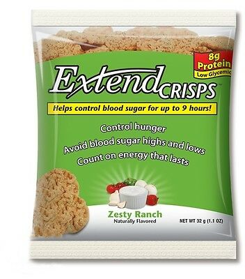 Extend Crisps Zesty Ranch 32 g, Low Carb, Low Calories Snack