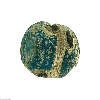 Early Islamic Glass Eye Bead Found in MALI  -  DAMAGED  -  (0839)