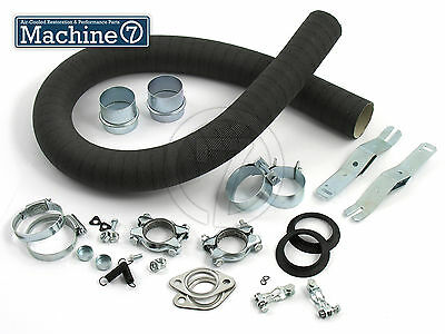 Classic VW Heat Exchanger Fittings with Card Heater Hose Beetle Bug Bus Camper
