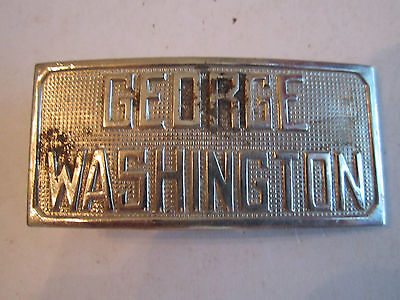 "Vintage George Washington Belt Buckle -2 3/4"" X 1 1/4"" - Fits 1"" Belt -Tub Cr"