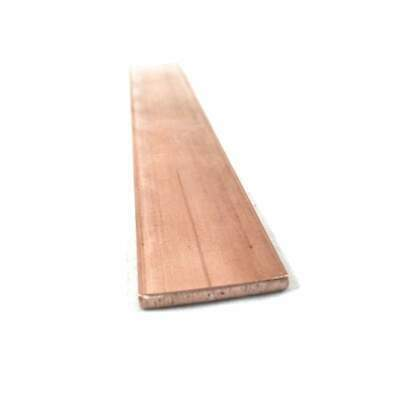 "Copper Flat Bar Stock 1/8"" x 1"" x 6""- Knife making, hobby, craft, C110- 1 Bar"