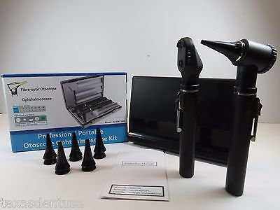 Ophthalmoscope + Otoscope Diagnostic Set Fiber Optic Quality PREMIUM  ORL FORZA4