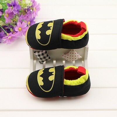 Baby Boy Superhero Baby Batman Black & Yellow Pre Walker Shoes