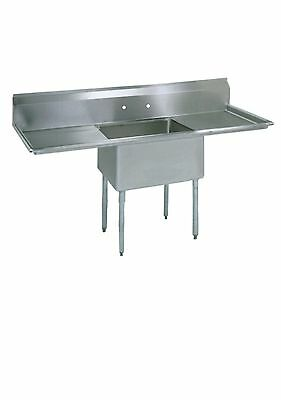 (1) One Compartment Commercial Stainless Steel Prep Pot Sink 54 x 29.8 G