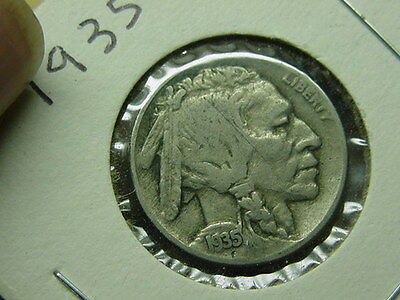 1935-P Buffalo  Nickel Five 5 Cents 5c Cheap Combined Shipping