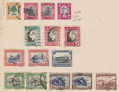 (JC-26) 1920-30 South Africa 36mix O/PS varieties