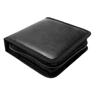 Portable Rectangle CD Carrying Storage Case Bag Holder Black AD