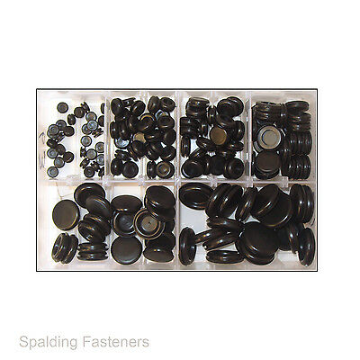 Assorted 6, 9, 12, 16, 20 & 25mm Rubber Closed Blind Blanking Grommets
