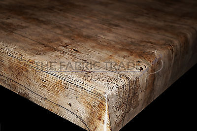 Wipe Clean New Wood Pvc Tablecloth Vinyl Oilcloth Fabric Covering