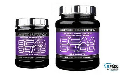 BCAA 6400 Essential Branched Chain Amino Acids 125/375 Scitec Nutrition + SAMPLE