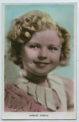 C.1930'S RP POSTCARD SHIRLEY TEMPLE CHILD FILM STAR ART PHOTO PUBLISHER  y85