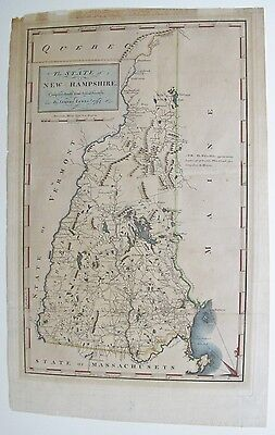Map 1794 New Hampshire Compiled chiefly from Actual Surveys By Samuel Lewis