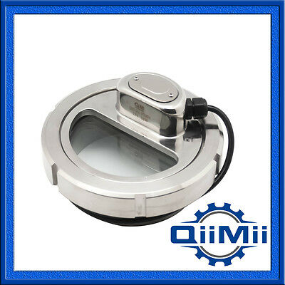 Stainless Lumiglas Sight Glass DN100 SS304 Union Tank View LED Light