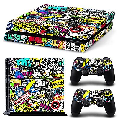 Ps4 Autocollant Peau Vinyl Playstation 4 Film Protection Console Skin Logos