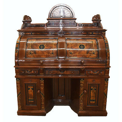 Extra Grade Cylinder Top Rotary Desk  #7822